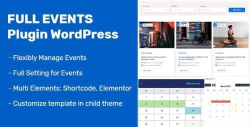 CodeCanyon - FullEvents v1.0.0 - Event Plugin WordPress - 31232652