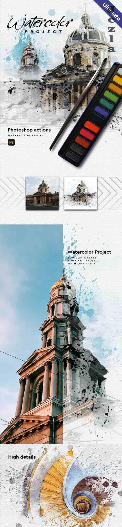 GraphicRiver - Watercolor Project - Architecture - PHSP Action 30305122
