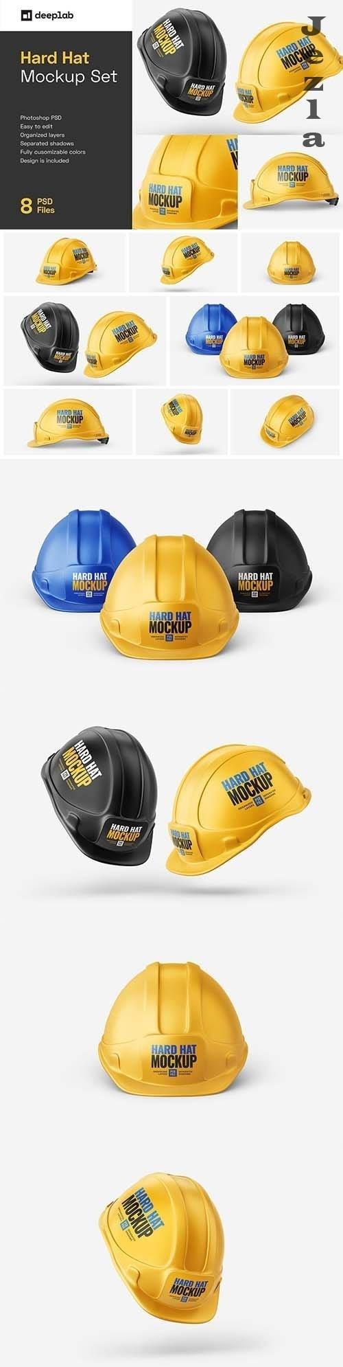 CreativeMarket - Construction Hard Hat Mockup Set 5997098