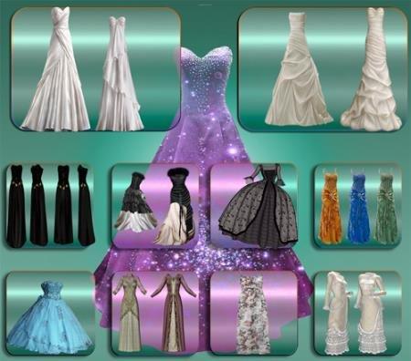 Прозрачные картинки для фотошопа - Изящные платья