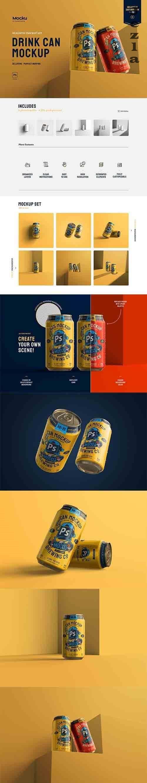 Drink Can Mockup Set - 5960720