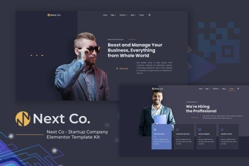 ThemeForest - Next Co v1.0.02 - Startup Company Elementor Template Kit - 31318775