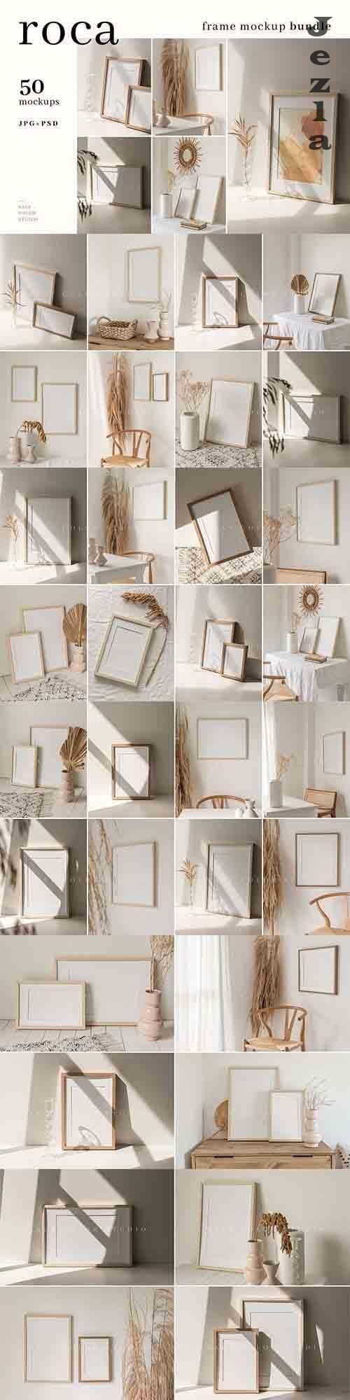 CreativeMarket - Roca Frame Mockup Bundle - JPG + PSD 5954280