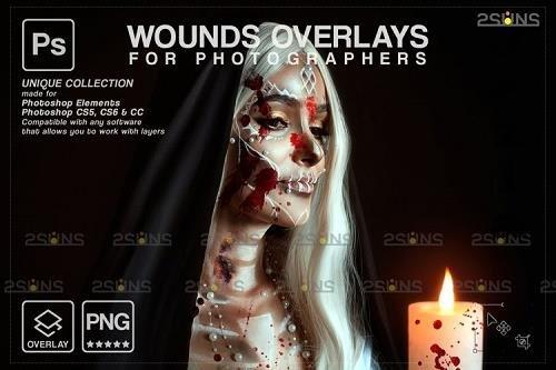 Wounds and scars Blood splatter PHSP overlay v35 - 1132998