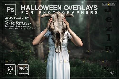 Halloween clipart Halloween overlay, PHSP overlay v36 - 1133001