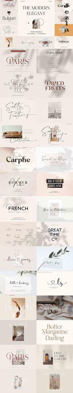 CreativeMarket - Modern Elegant Font Bundle 5742062