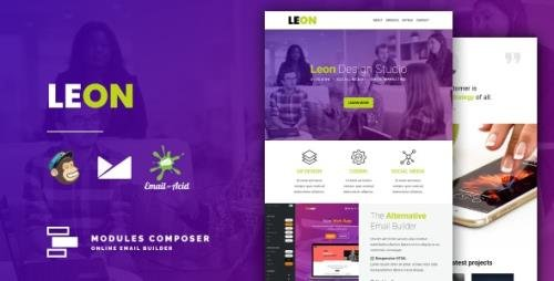 ThemeForest - Leon v1.0 - Responsive Email for Agencies, Startups & Creative Teams with Online Builder - 31284207