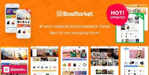ThemeForest - BosMarket v1.9.5 - Flexible Multivendor Elementor WooCommerce WordPress Theme (12 Indexes + Mobile Layouts) - 21207492 -
