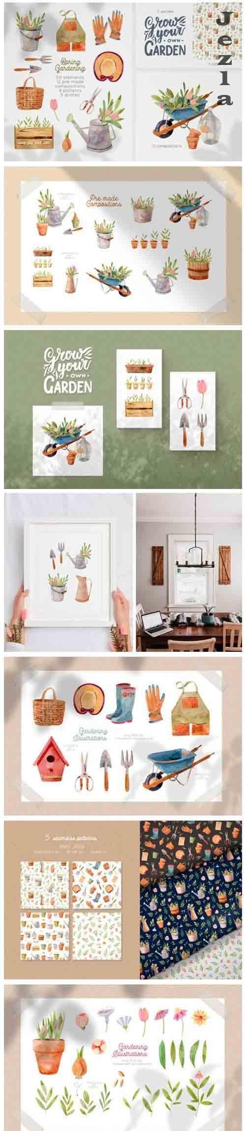 Gardening Tools Clipart - 4496180