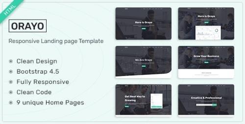 ThemeForest - Orayo v1.0 - Responsive Landing Page Template - 31233326
