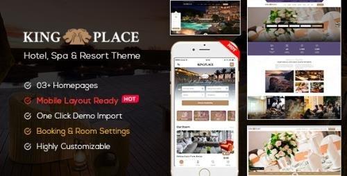 ThemeForest - KingPlace v1.2.4 - Hotel Booking, Spa & Resort WordPress Theme (Mobile Layout Ready) - 20990483 -