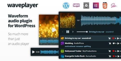 CodeCanyon - WavePlayer v3.1.3 - Waveform Audio Player for WordPress and WooCommerce - 14349799