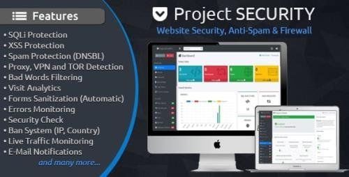 CodeCanyon - Project SECURITY v4.4 - Website Security, Anti-Spam & Firewall - 15487703