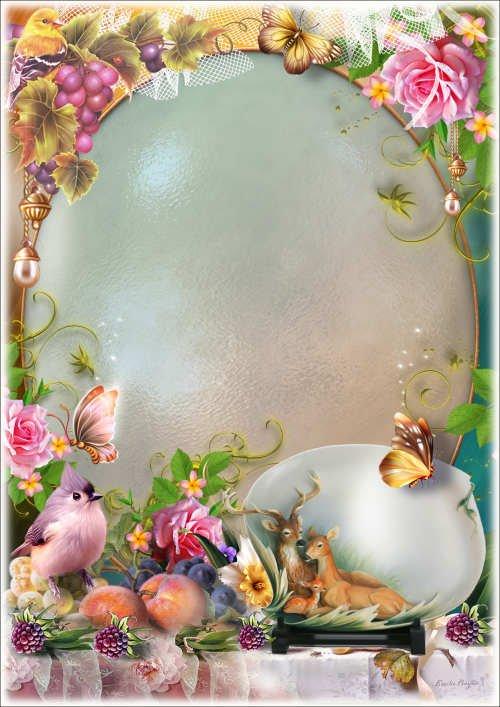 Рамка для фото - Натюрморт с розами