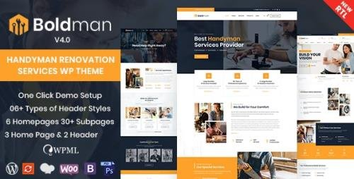 ThemeForest - Boldman v4.1 - Handyman Renovation Services WordPress Theme - 23342358