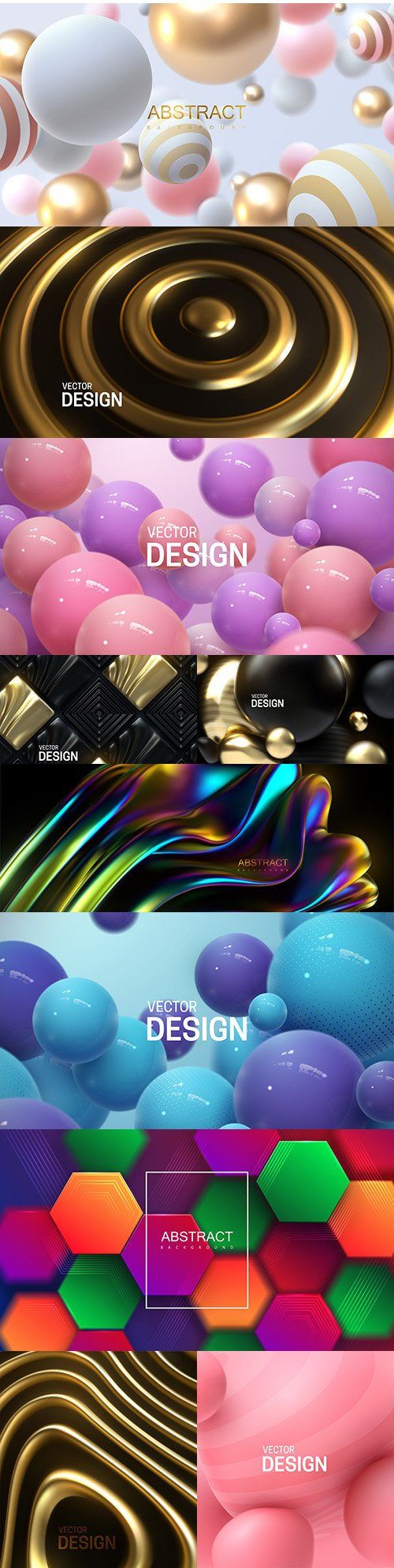 Abstract background with bouncing 3d spheres illustration