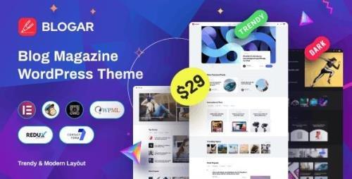 ThemeForest - Blogar v1.0.2 - Blog Magazine WordPress Theme - 30583777