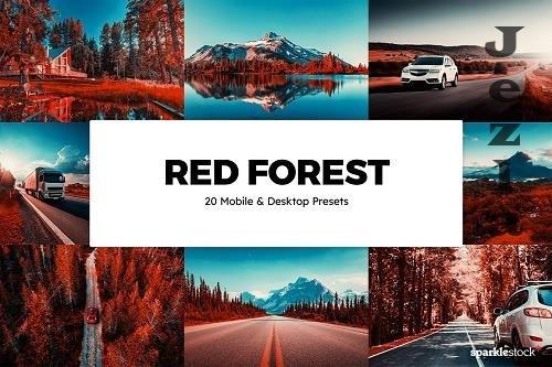 20 Red Forest Lightroom Presets - 6035061