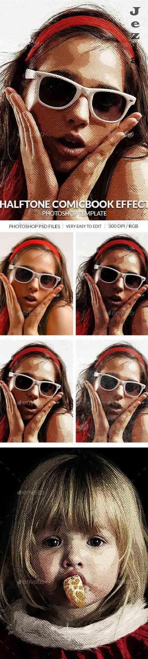 GraphicRiver - Halftone Comcbook Photo Effect Template 30408933