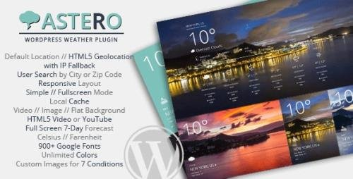 CodeCanyon - Astero v2.0.1 - WordPress Weather Plugin - 9473087