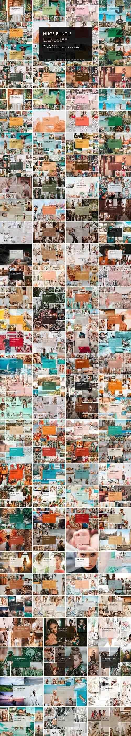 CreativeMarket - HUGE Bundle Presets (108 Packs) 4680407