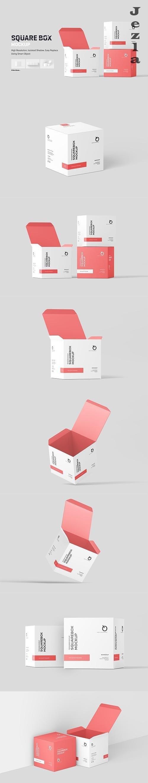 Square Box Mockup - 6018726