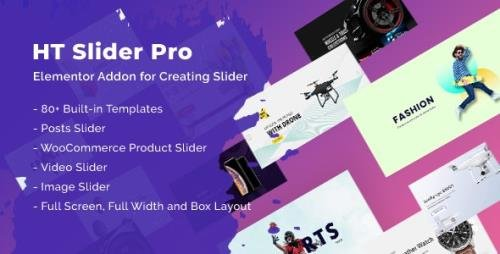 CodeCanyon - HT Slider Pro For Elementor v1.0.7 - 25509064