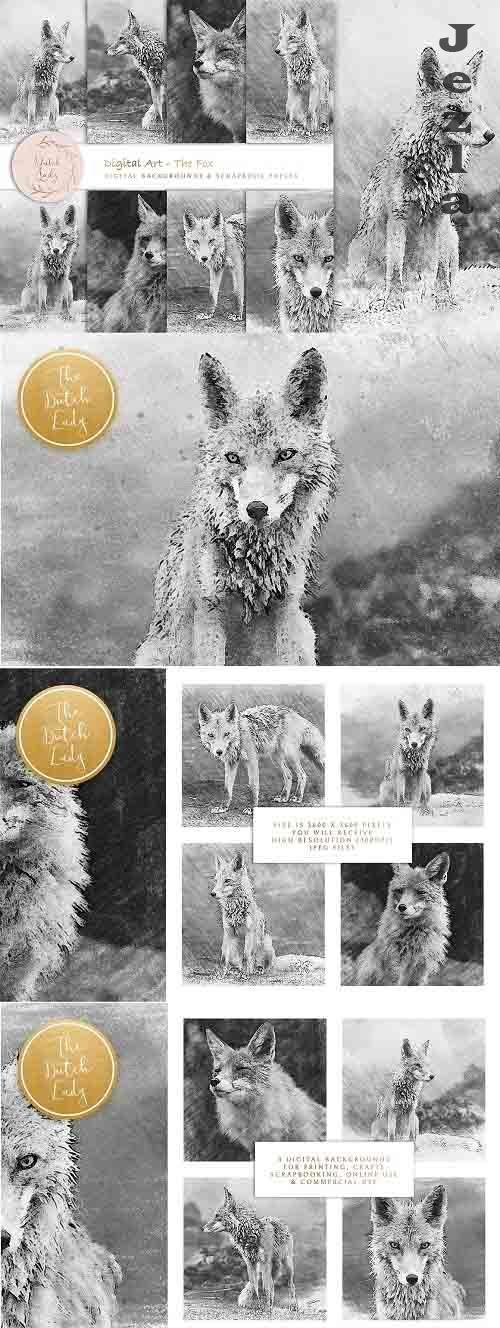 Digital Drawings The Fox - 6041478