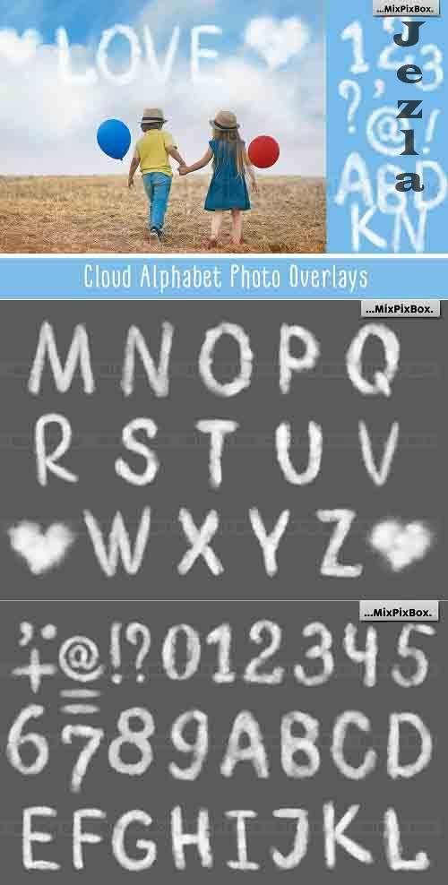Cloud Alphabet Photo Overlays - 6043491