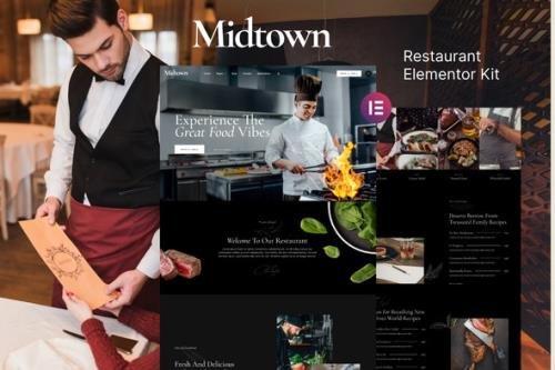 ThemeForest - Midtown v1.0.0 - Restaurant Elementor Template Kit - 31521271