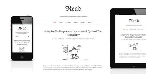 ThemeForest - Read WP v4.5.4 - Minimalist WordPress Blog Theme - 4004353
