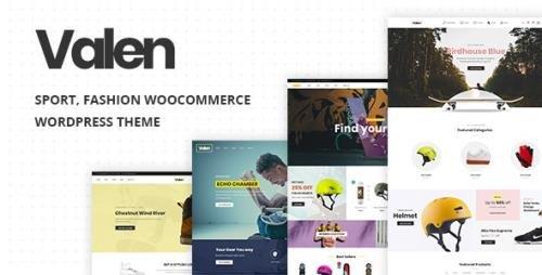 ThemeForest - Valen v2.1 - Sport, Fashion WooCommerce WordPress Theme - 22922379