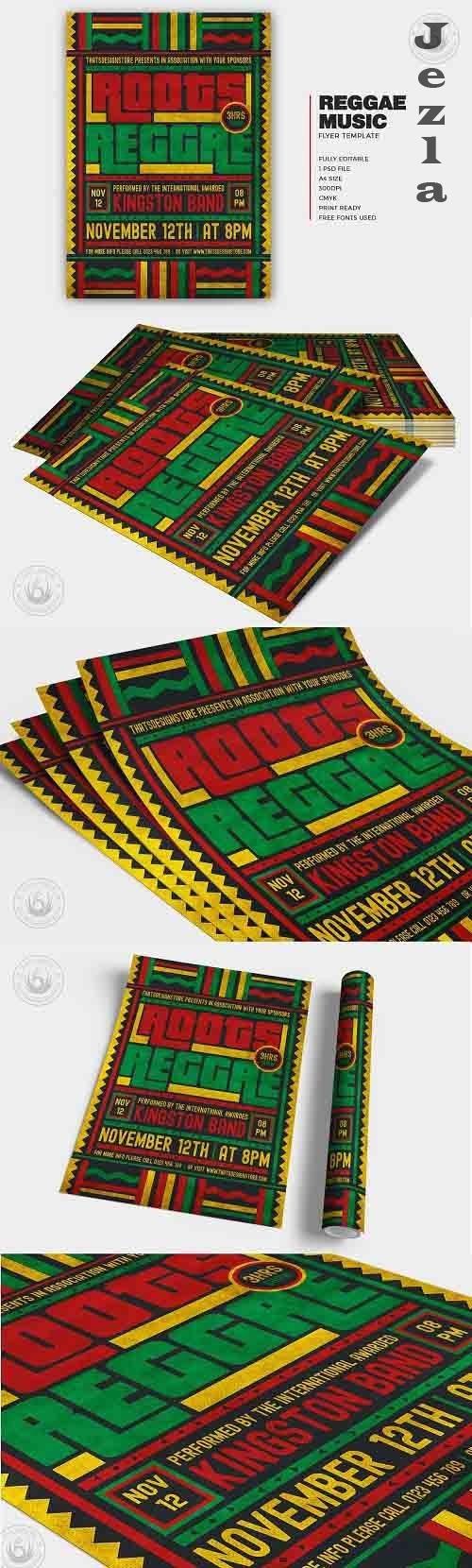 Reggae Music Flyer Template V4 - 6046985
