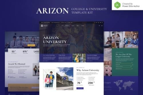 ThemeForest - Arizon v1.0.0 - College & University Elementor Template Kit - 31532615
