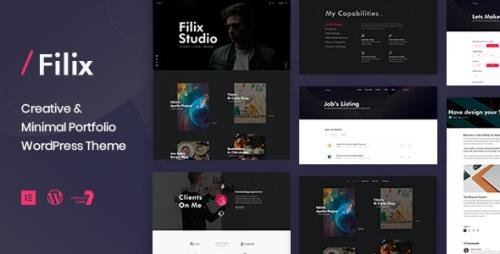 ThemeForest - Filix v1.2.8 - Creative Minimal Portfolio WordPress Theme - 23825359