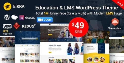 ThemeForest - Eikra v4.2.2 - Education WordPress Theme - 20950897