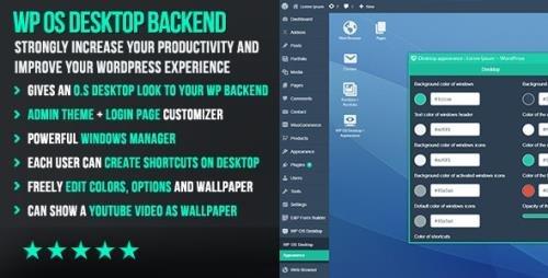 CodeCanyon - WP OS Desktop Backend v1.157 - More than a Wordpress Admin Theme - 15804874
