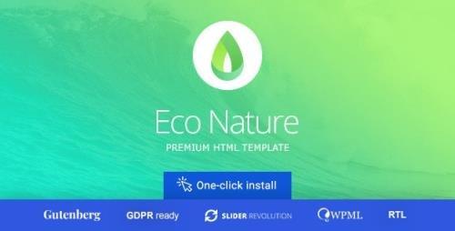 ThemeForest - Eco Nature v1.5.0 - Environment & Ecology WordPress Theme - 8497776