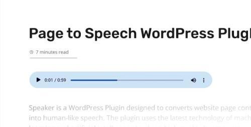 CodeCanyon - Speaker v3.2.2 - Page to Speech Plugin for WordPress - 24336046