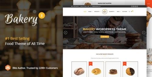 ThemeForest - Bakery v2.6 - WordPress Cake & Food Theme - 11112118 - NULLED