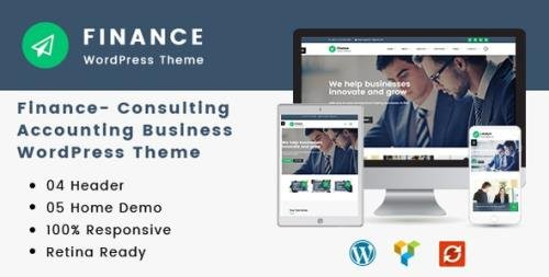 ThemeForest - Finance v1.3.7 - Consulting, Accounting WordPress Theme - 19444449