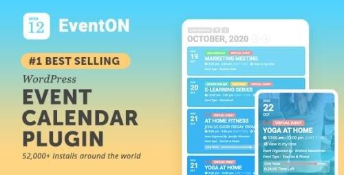 CodeCanyon - EventON v3.1.4 - WordPress Event Calendar Plugin - 1211017 + Add-Ons - NULLED