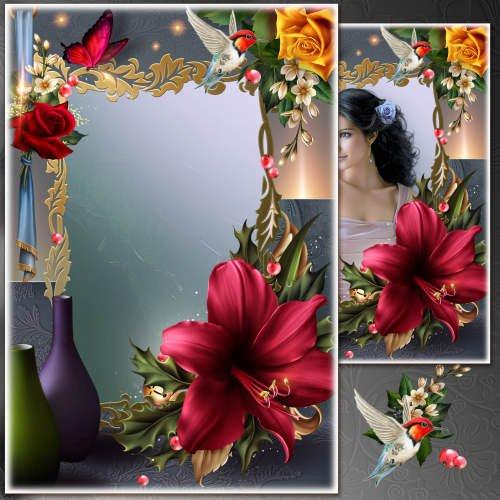 Цветочная рамка для фото - Магия цветов