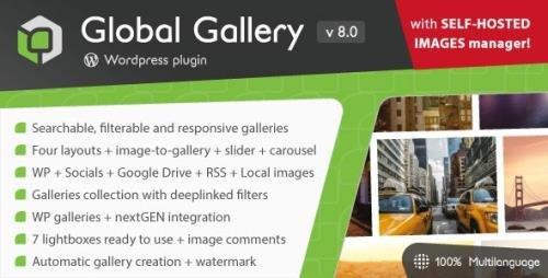 CodeCanyon - Global Gallery v8.0 - Wordpress Responsive Gallery - 3310108