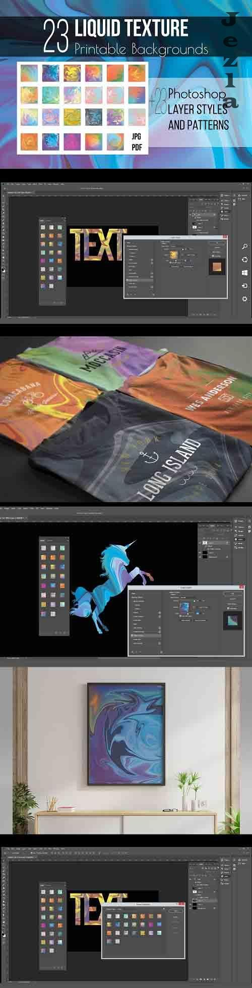 Liquid texture & PHSP Layer Styles - 1268816