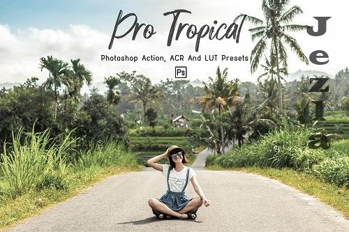 7 Pro Tropical PHSP Actions, ACR, LUT Presets - 1310478