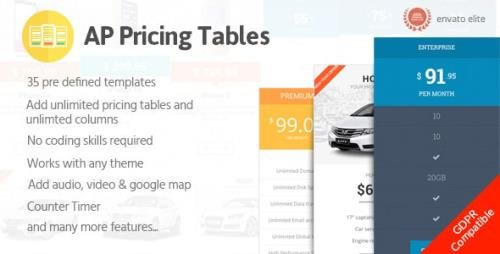 CodeCanyon - AP Pricing Tables v1.0.4 - Responsive Pricing Table Builder Plugin for WordPress - 19444865