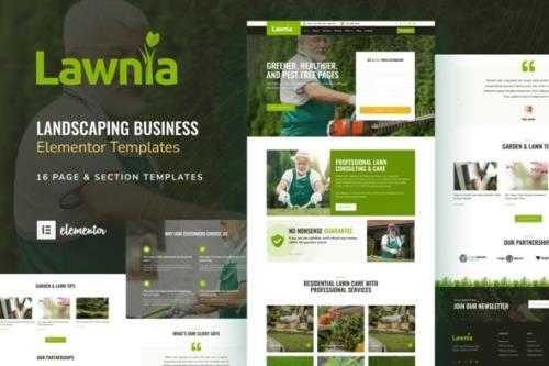 ThemeForest - Lawnia v1.0.0 - Gardener Landscaping Business Elementor Template Kit - 31481468