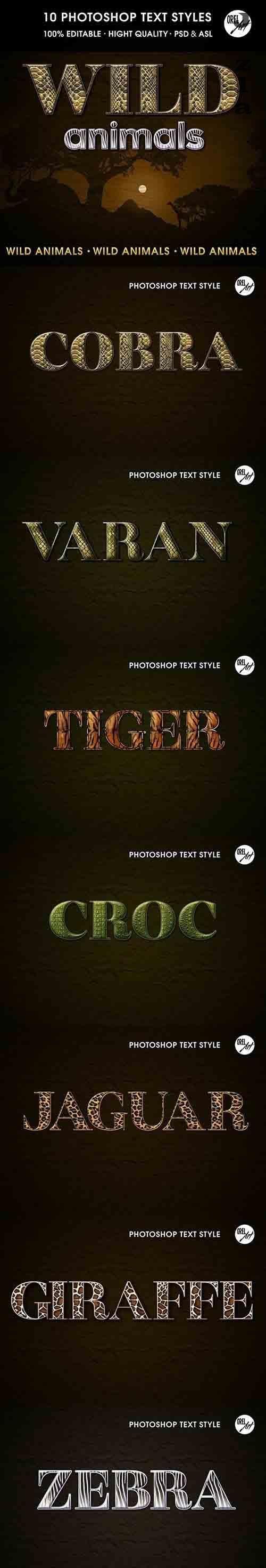 GraphicRiver - Wild Animals Text Styles 30385880