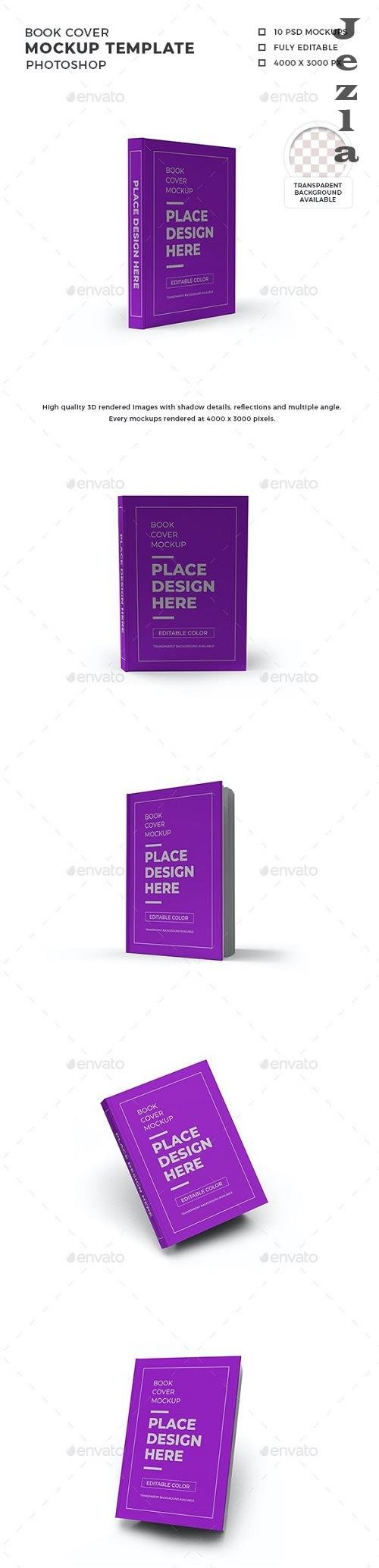 Book Cover Mockup Template Set - 30263942
